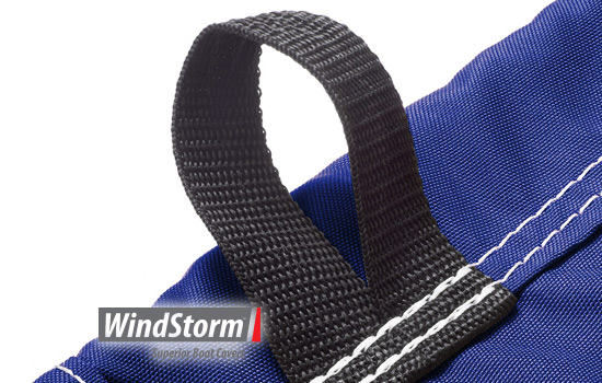 Sewn in marine grade straps for a secure tie down