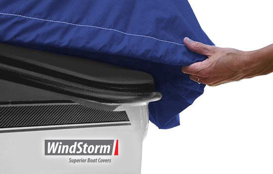 Heavy duty shock cord hem for snug custom-like fit