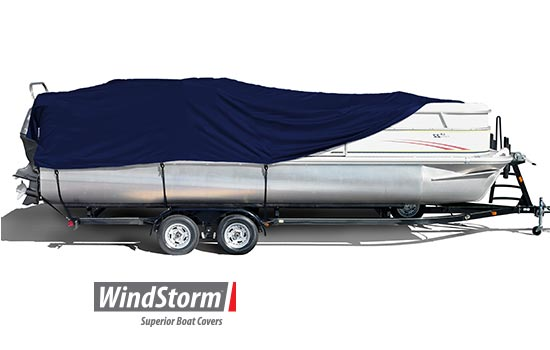 WindStorm™ boat covers are created from solution dyed fabric which results in a vastly superior product that will hold color longer and remain much stronger.