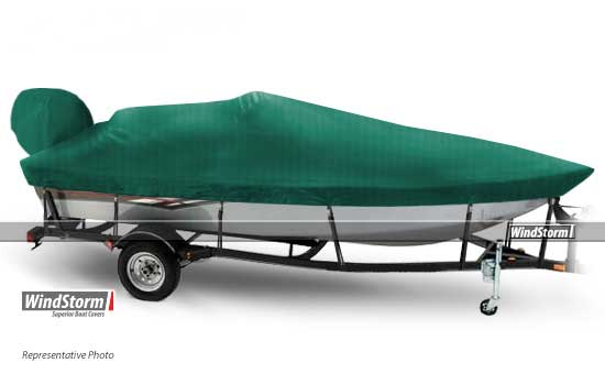 WindStorm Boat Cover for V HULL FISHING - Side Console Fits