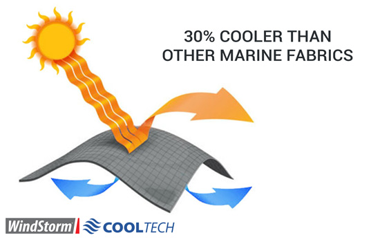 30% cooler than other marine-grade fabrics