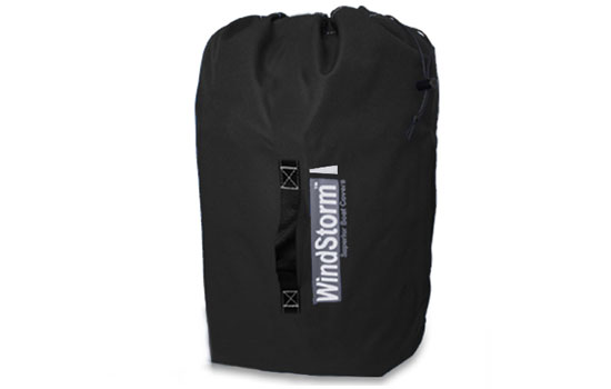 Windstorm Elite boat cover storage bag.
