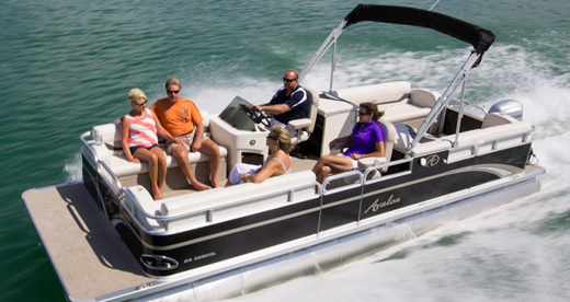 22 Foot DELUXE PONTOON BOAT COVER Avalon CT BF