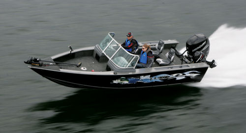 Eevelle Aluminum Fishing Boat with Walk Thru Windshield
