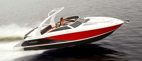 Eevelle Ski Boat with Low Profile Windshield